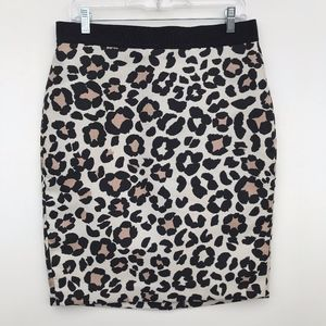 Ann Taylor Leopard Pencil Skirt #828